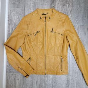 JouJou Faux Leather Moto Jacket Large